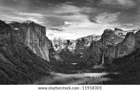 Yosemite Valley Black and White