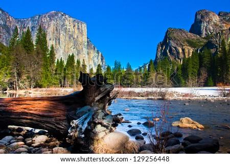 Yosemite Valley in Yosemite National Park,California
