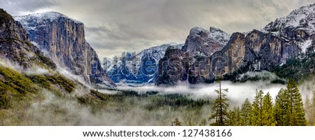 Yosemite Valley Panorama, Yosemite National Park, California