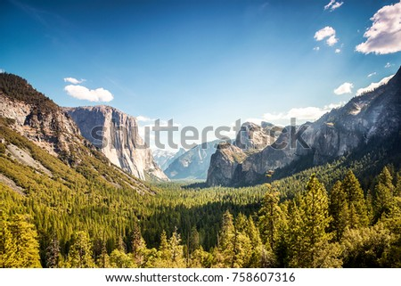 Yosemite Valley, Yosemite National Park, California, USA #758607316