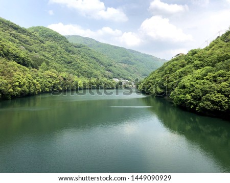 Yoshino River flows through Tokushima Prefecture. One of the gentle and majestic rivers representing Shikoku. In recent years, the rafting world tournament has been held. #1449090929