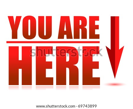 you are here - stock photo