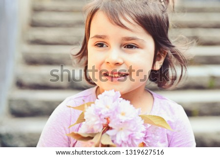 You are so beautiful. face skincare. allergy to flowers. Summer girl fashion. Happy childhood. Little girl in sunny spring. Springtime. weather forecast. Small child. Natural beauty. Childrens day. #1319627516