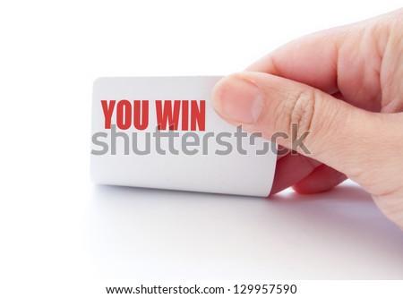 You win - stock photo