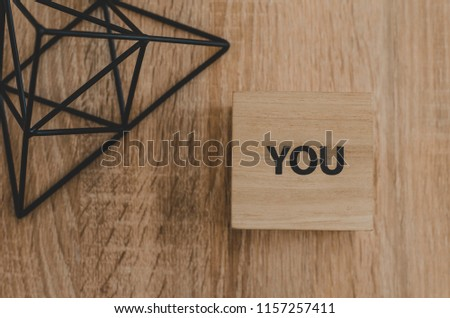 YOU Word Written In Wooden Cube. wooden cubes with words, business concept #1157257411