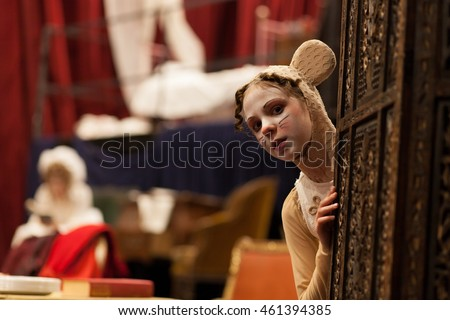 young actress in a mouse costume #461394385