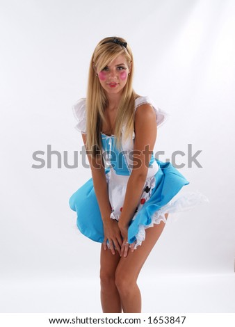 stock photo young adult female in an alice in wonderland costume 1653847 non nude kissing teens
