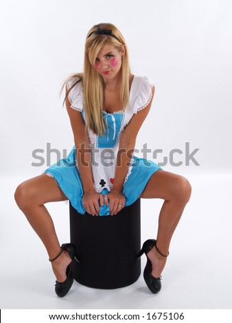 stock photo young adult in an alice in wonderland costume 1675106 non nude kissing teens