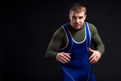 Young adult male wrestler.