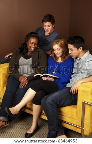 Young Adults Bible Study- Diverse Group of Friends