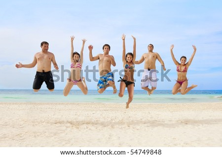 Young Adults Having Fun at the Beach