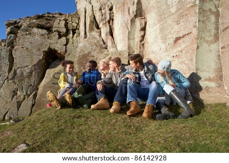 Young adults in countryside