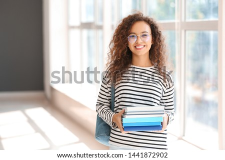 Young African-American student in university