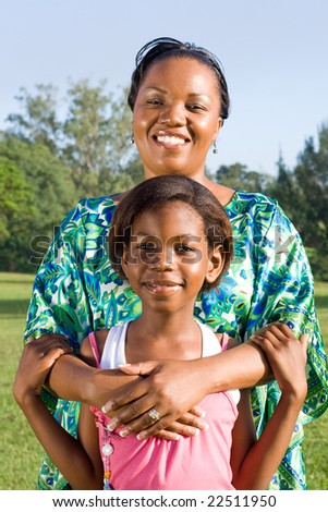 young african mother and her daughter