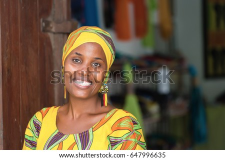 young african woman in...