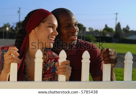 White American Couple Young American Couple Holding
