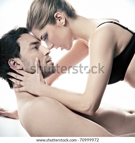 Young and attractive couple - stock photo