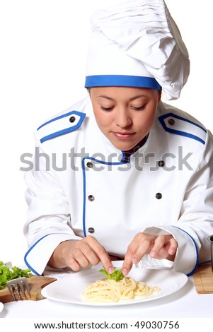 young and beautidul chefgirl