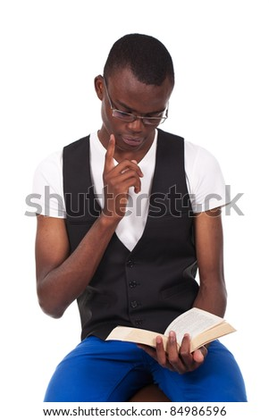 Black man reading you