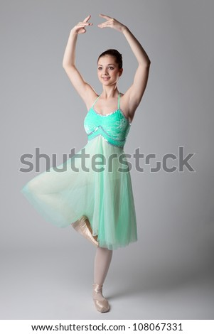 young and beautiful dancer poses - stock photo