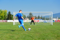 young and beautiful footballers train football