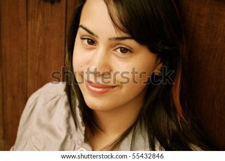Young and Beautiful Hispanic teenager