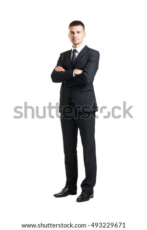 Young and confident business man. Businessman in suit isolated on white.  Stock photo ©