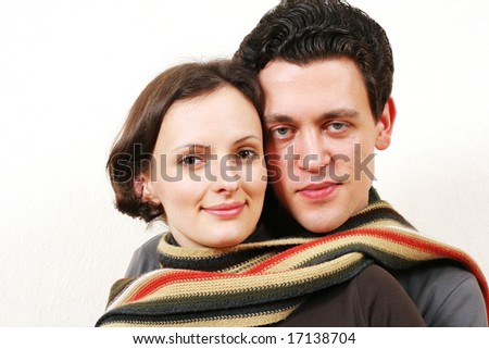 Young and happy couple - stock photo