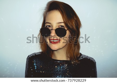 Young and stylish. Portrait of beautiful glamour hipster