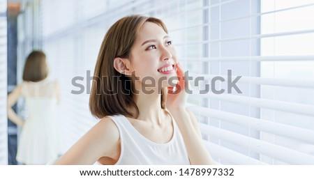 Young asian skin care woman enjoy the sunshine and not afraid of suntan