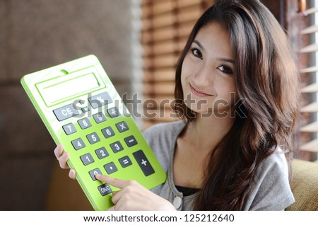 Young Asian woman close up shot. - stock photo