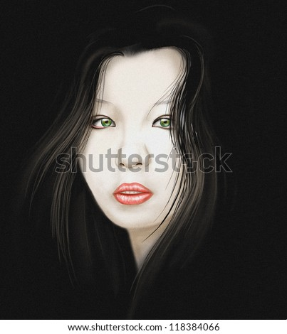 Young asian woman portrait