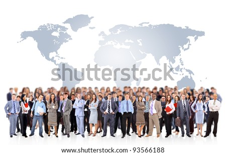 Young attractive business people - the elite business team #93566188
