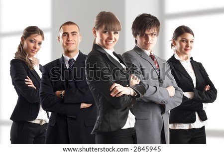Young attractive business people - the elite dream team