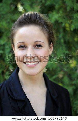 Young Attractive Business Woman Smiling