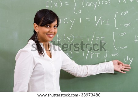 young attractive indian math teacher