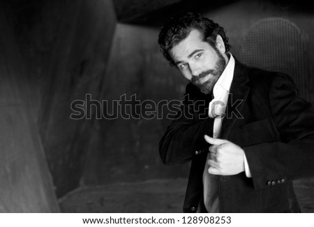 Young attractive man with suit #128908253