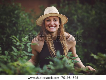 Young attractive natural blonde girl on the stret, street style photography #751984396