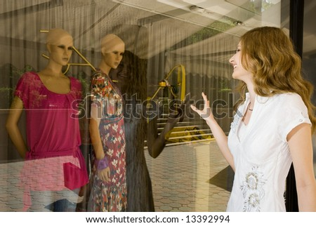 Young attractive woman shopping