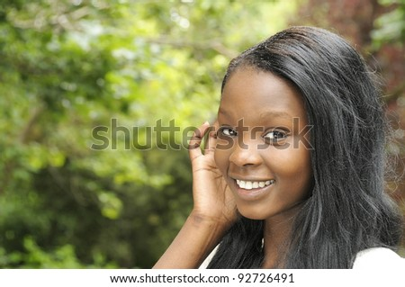 Young beautiful African descent woman