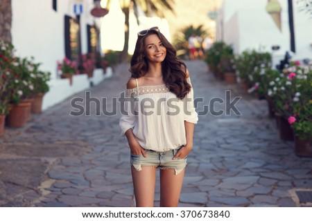 young beautiful cheerful woman...