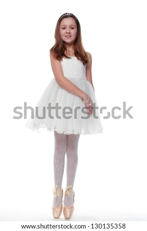 Young beautiful dancer posing