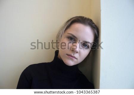 young beautiful girl #1043365387