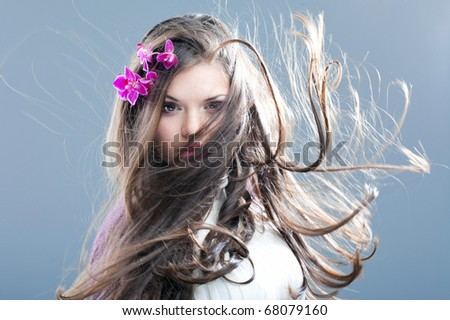 stock photo : young beautiful girl