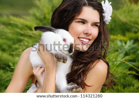 cute smiling bunny holding - photo #11