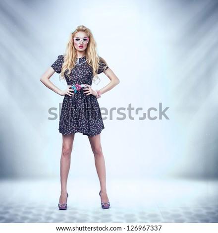 young beautiful pinup woman