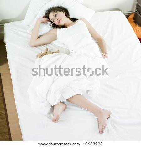 young beautiful woman caucasian in her bedroom #10633993