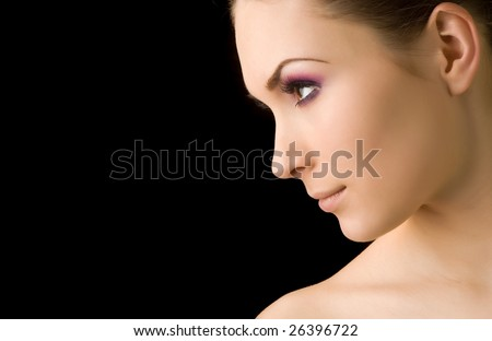 Young beautiful woman's portrait