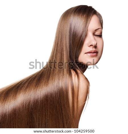 young beautiful woman with long  hair