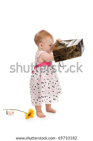 Young beauty baby isolated on white background